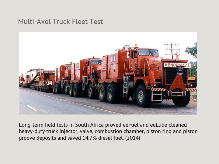 Multi-Axel Truck Fleet Test