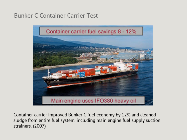 Bunker C Container Carrier Test