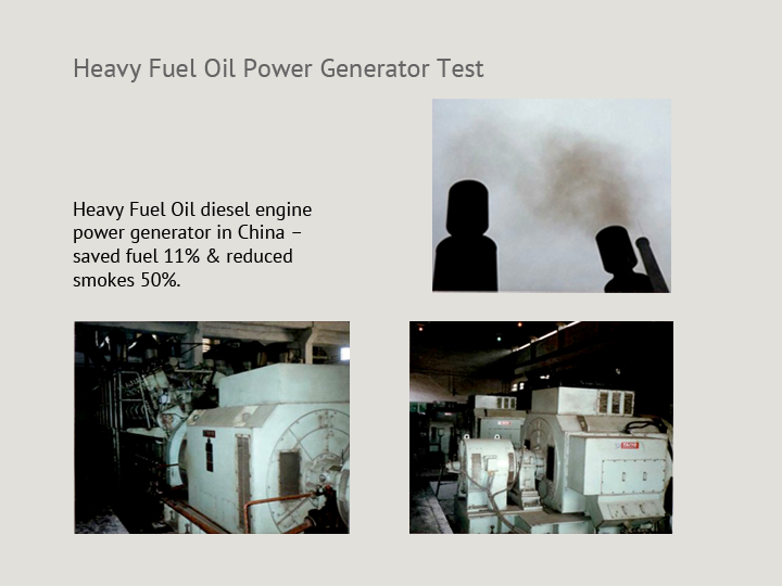 Heavy Fuel Oil Power Generator Test