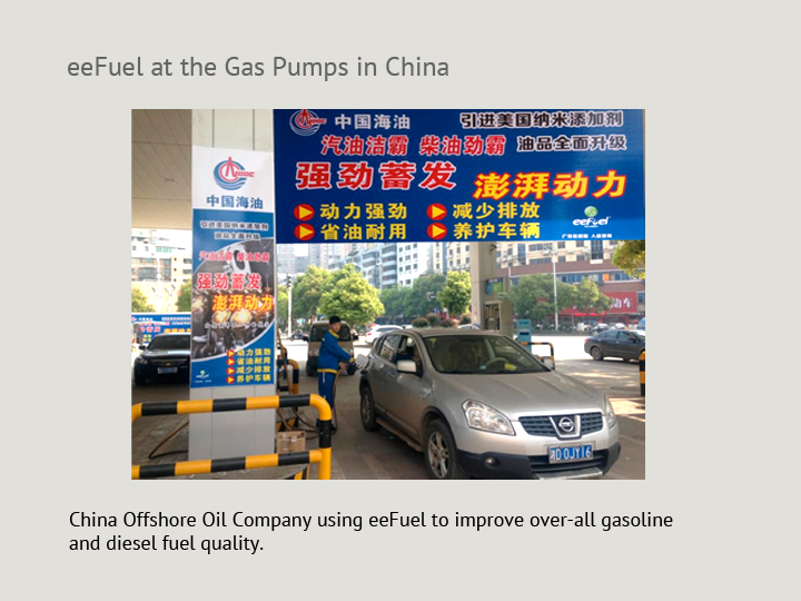 eeFuel at the Gas Pumps in China